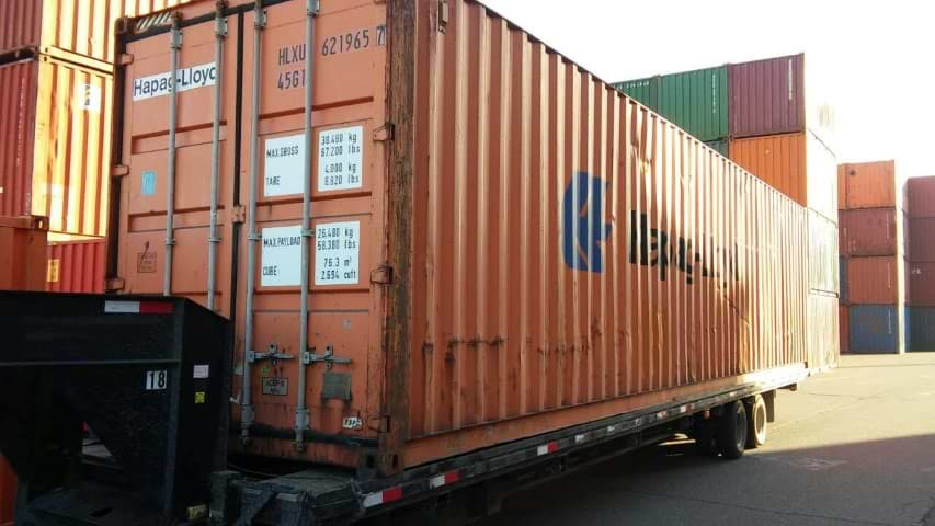 40' High cube container for sale