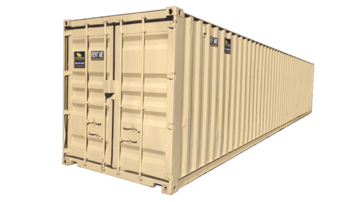 40' High cube storage container for rent