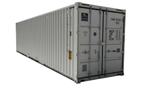 40' High cube shipping containers w/ doors on both ends for sale