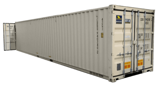 40' Container with cargo doors on both ends for rent