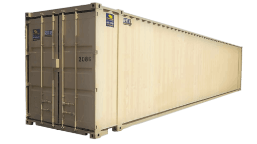 45' High cube storage container for rent
