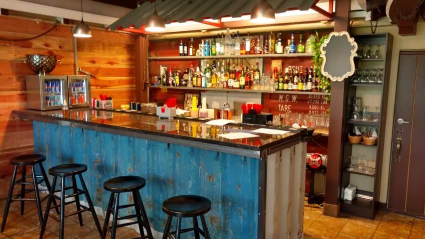 bar storage container bar orange color alcohol conexwest storage container bar shipping container bar modified containers