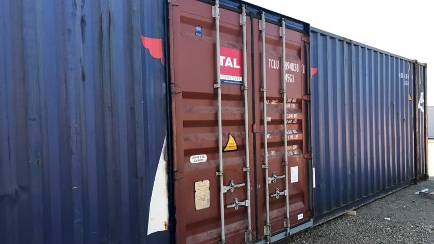 dual cargo doors on shipping container for sale