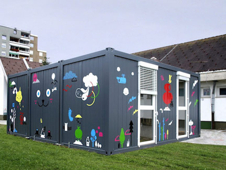 Exterior custom paint for daycare container for sale
