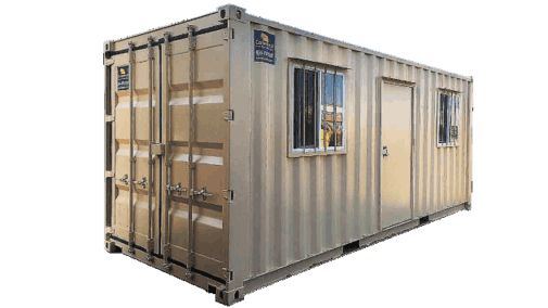 20' Job-site office container for rent