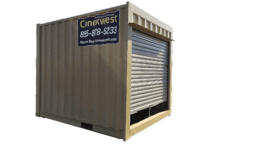 10' Storage container with roll up door for sale