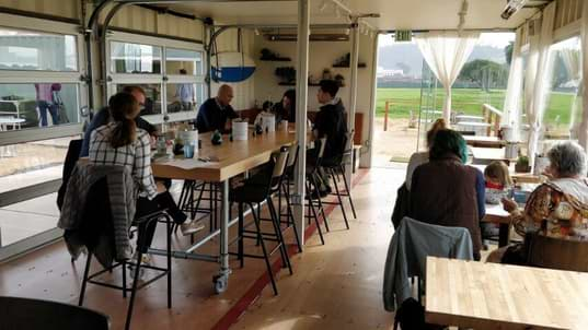 Restaurant mersea out of shipping containers
