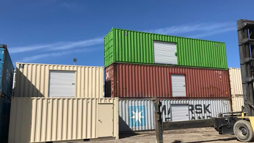 roll up door on shipping containers for sale