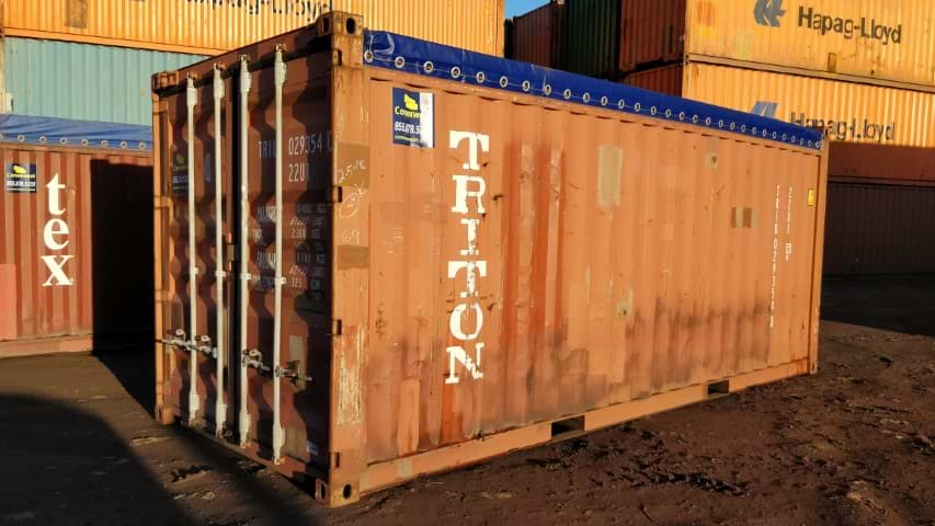 20' Open soft tarp top container for sale