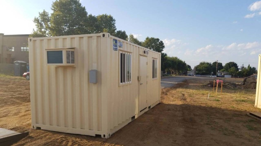 The Green Alternative: a Cargo Container Jobsite Office.