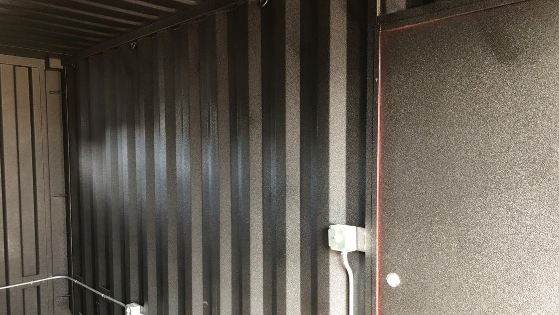 Rhino lining coating for shipping container