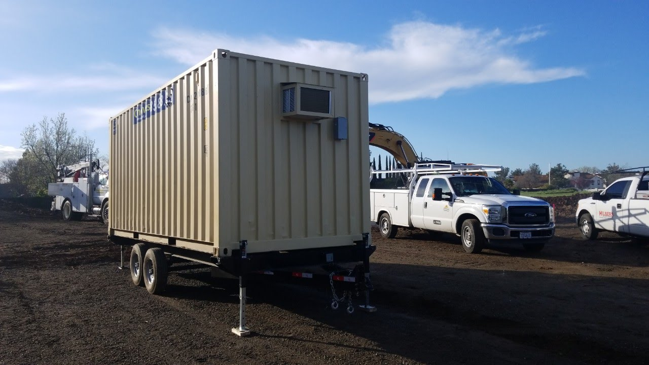 20ft mobile office container with trailer for sale