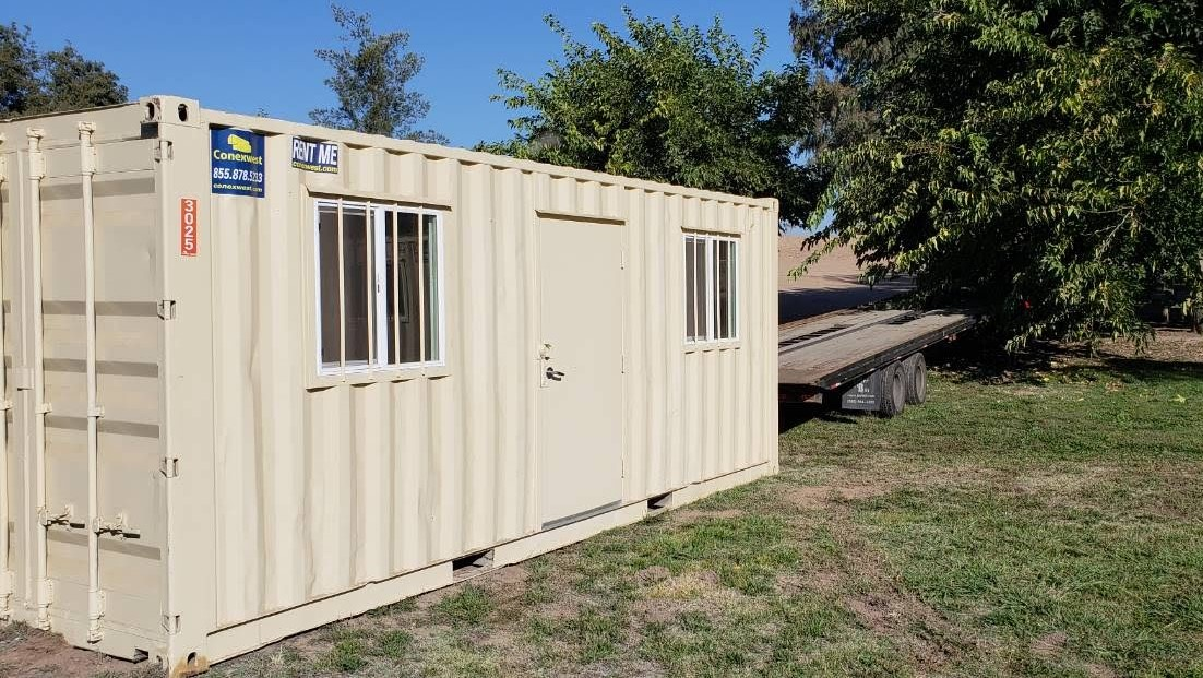 20ft mobile office and storage container combo for rent