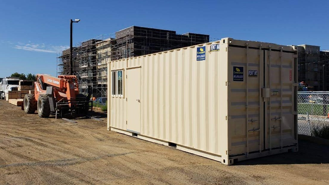 20' Combo office and storage container inside for rent