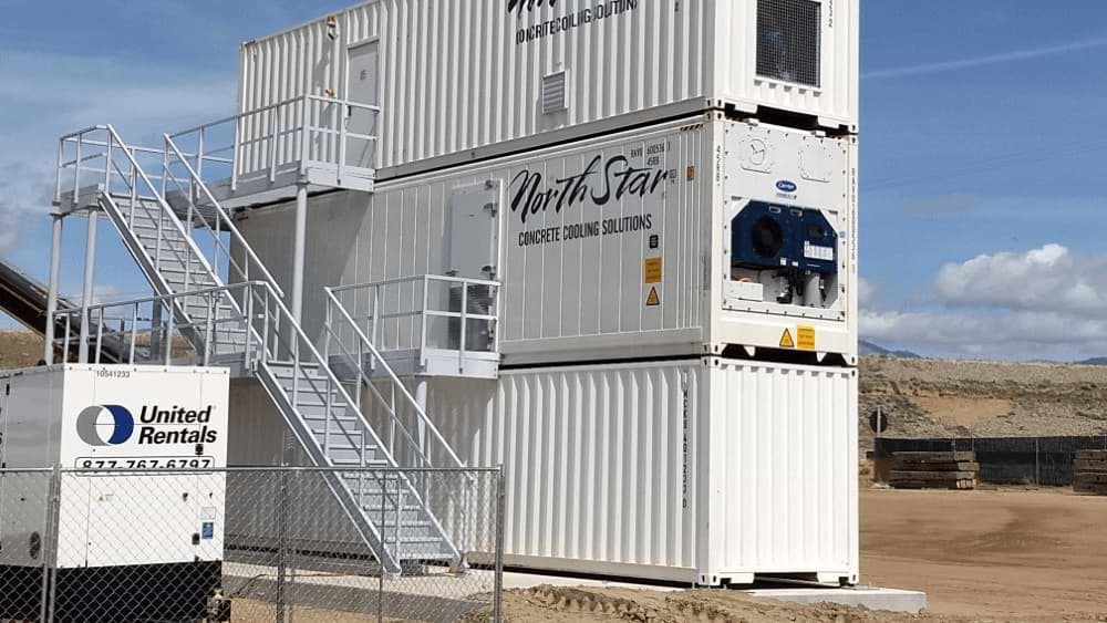 three stories container structure