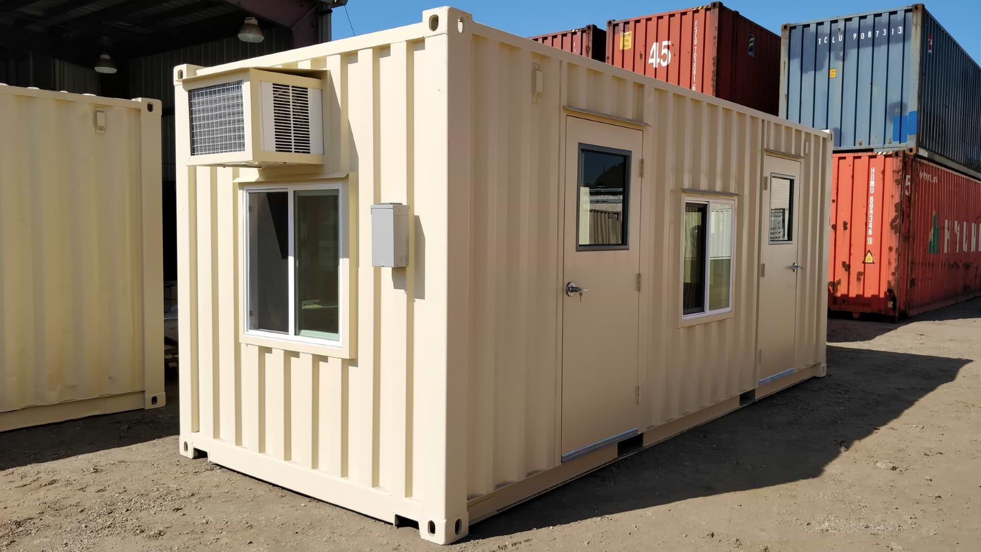 20ft container office with windows and doors