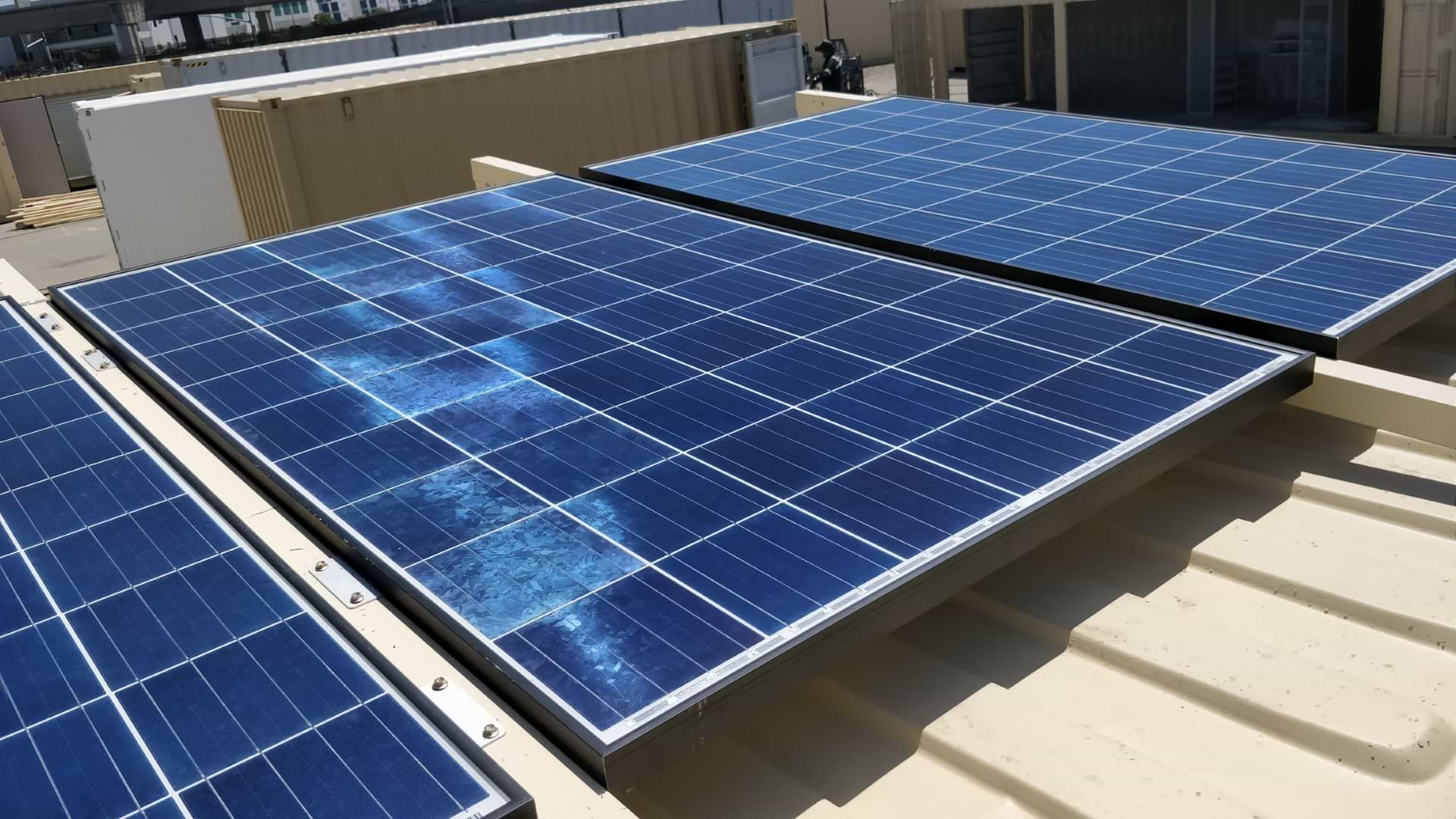 solar power custom addition for shipping containers