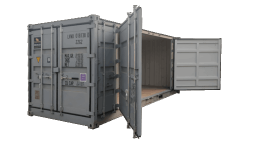 20ft open side storage container for rent