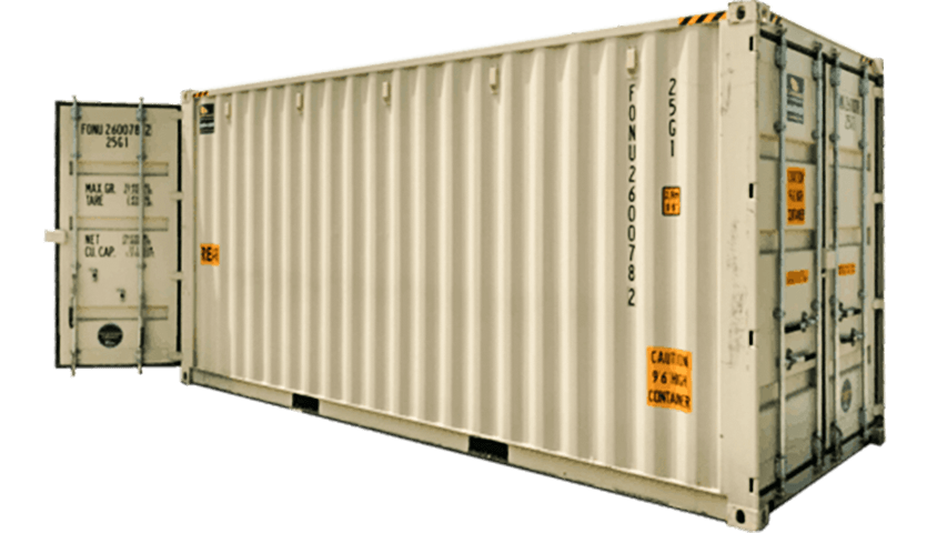 20ft high cube shipping container with doors on both ends for sale