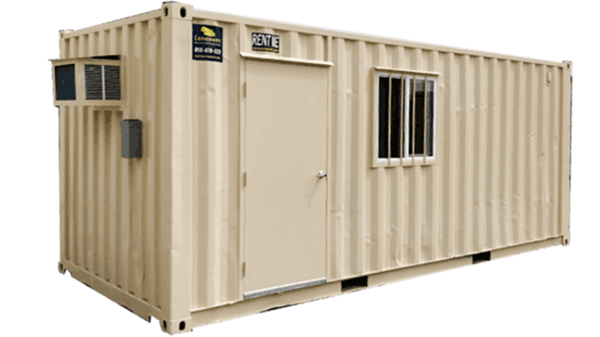 Combo 20ft mobile office and storage container for rent