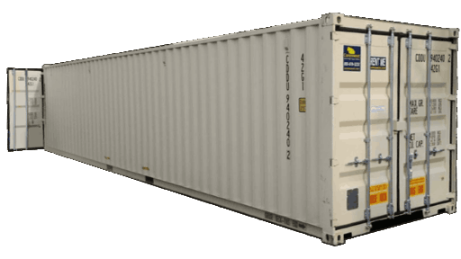 40ft storage container with cargo doors on both ends for rent