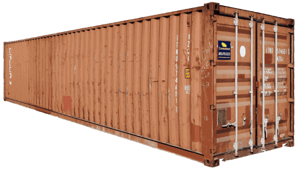 40ft used shipping container red color
