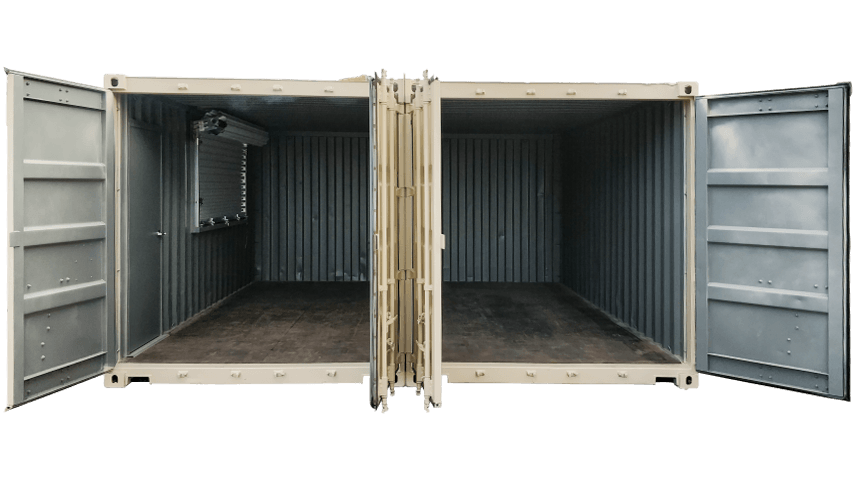 20ft joined shipping containers for sale interior