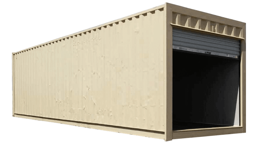 30ft refurbished storage container beige color