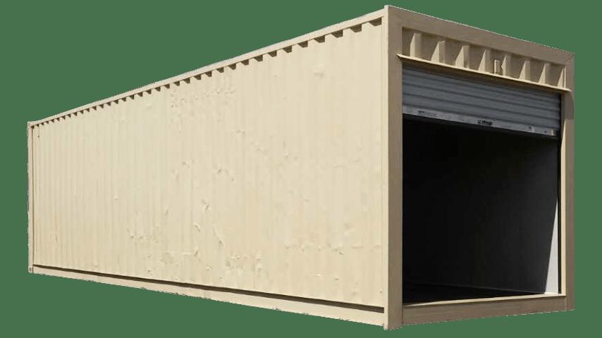 30ft refurbished storage container beige color