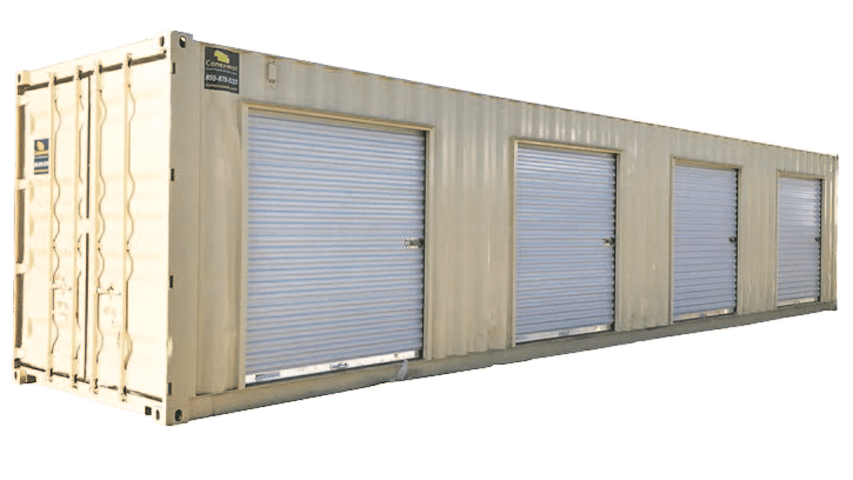 40ft self-storage shipping container with roll up doors