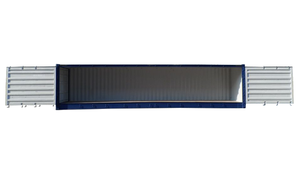 40ft high cube open side shipping container