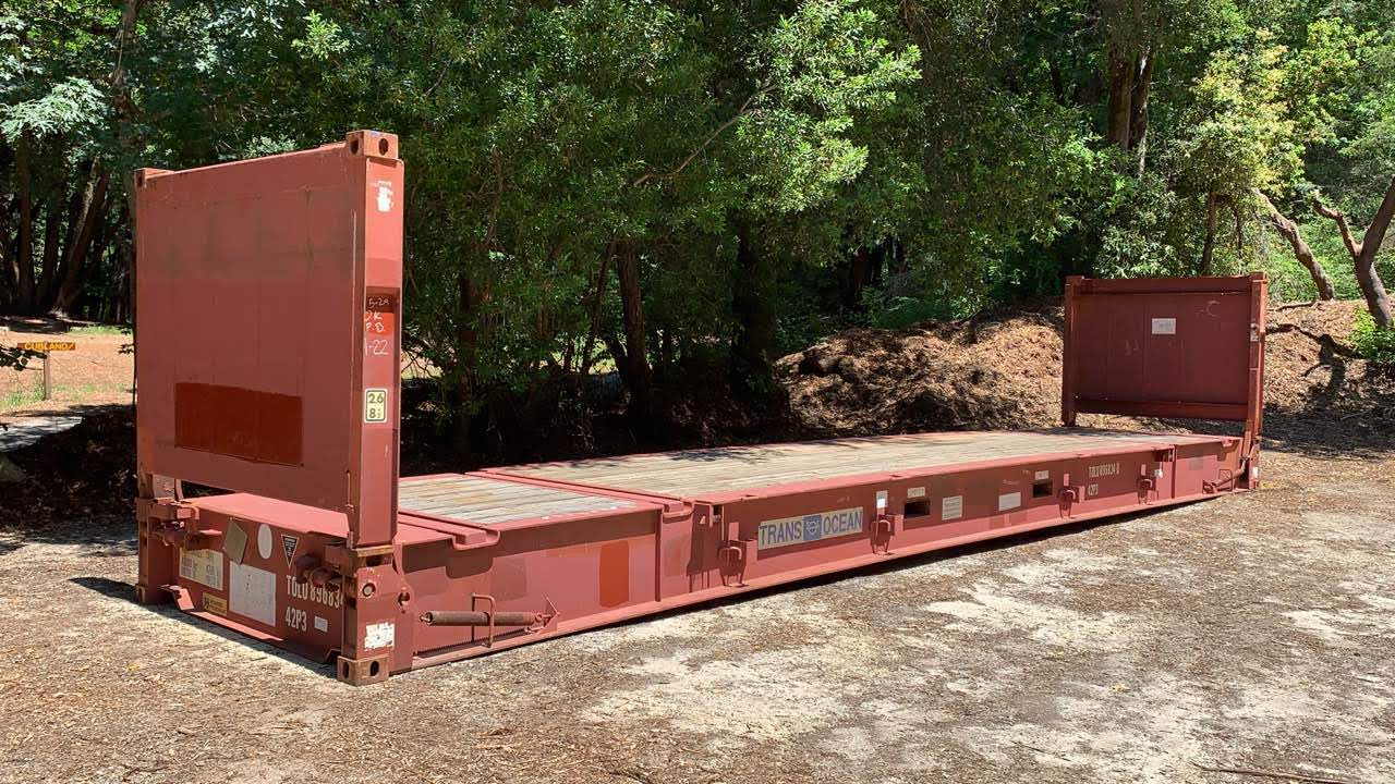 40ft flat rack shipping container for sale