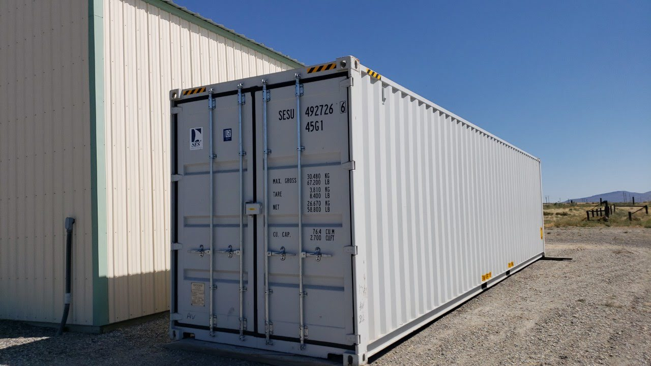 40ft High Cube Shipping Container With Doors On Both Ends