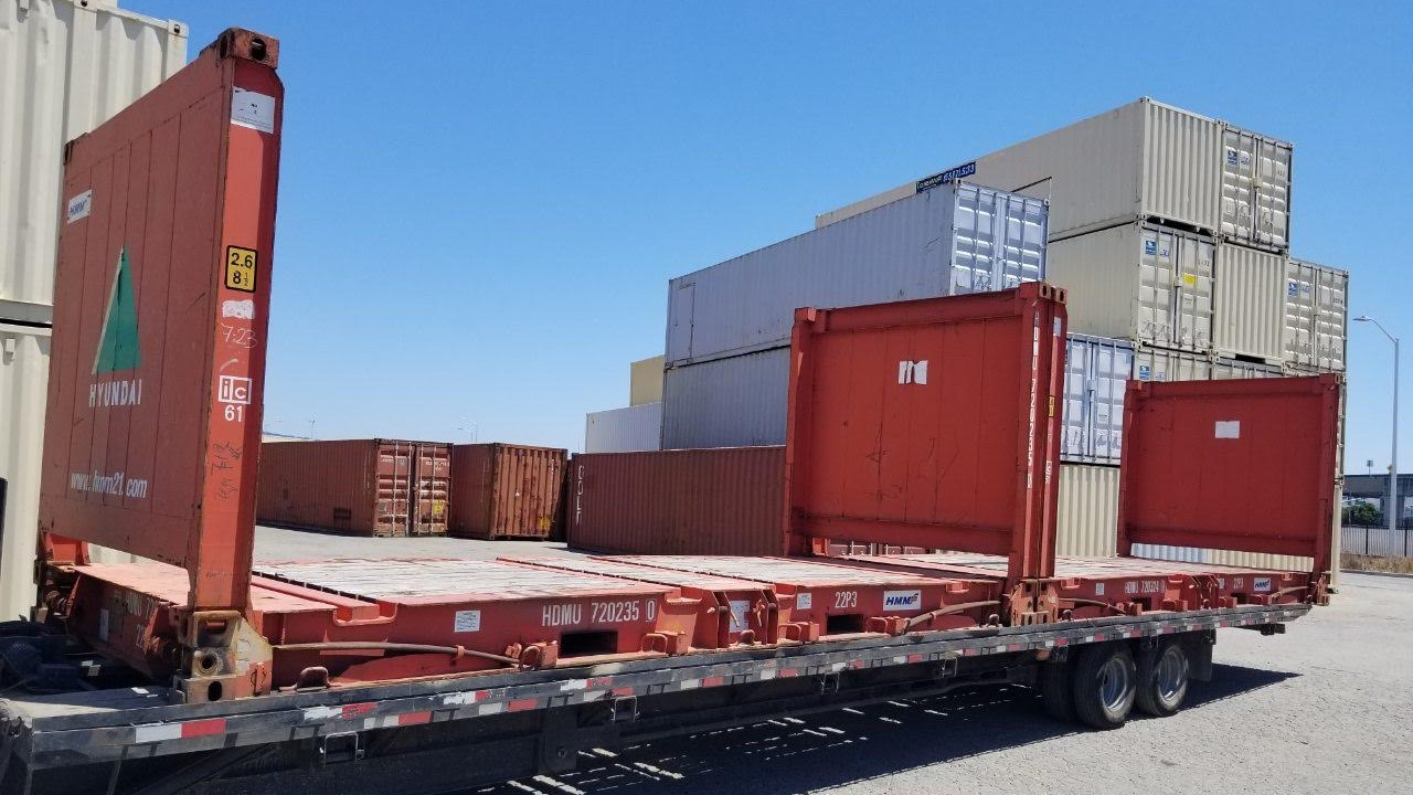 20ft flat rack shipping container for sale