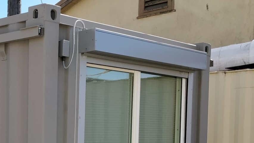 Electric window shutter for storage containers for sale