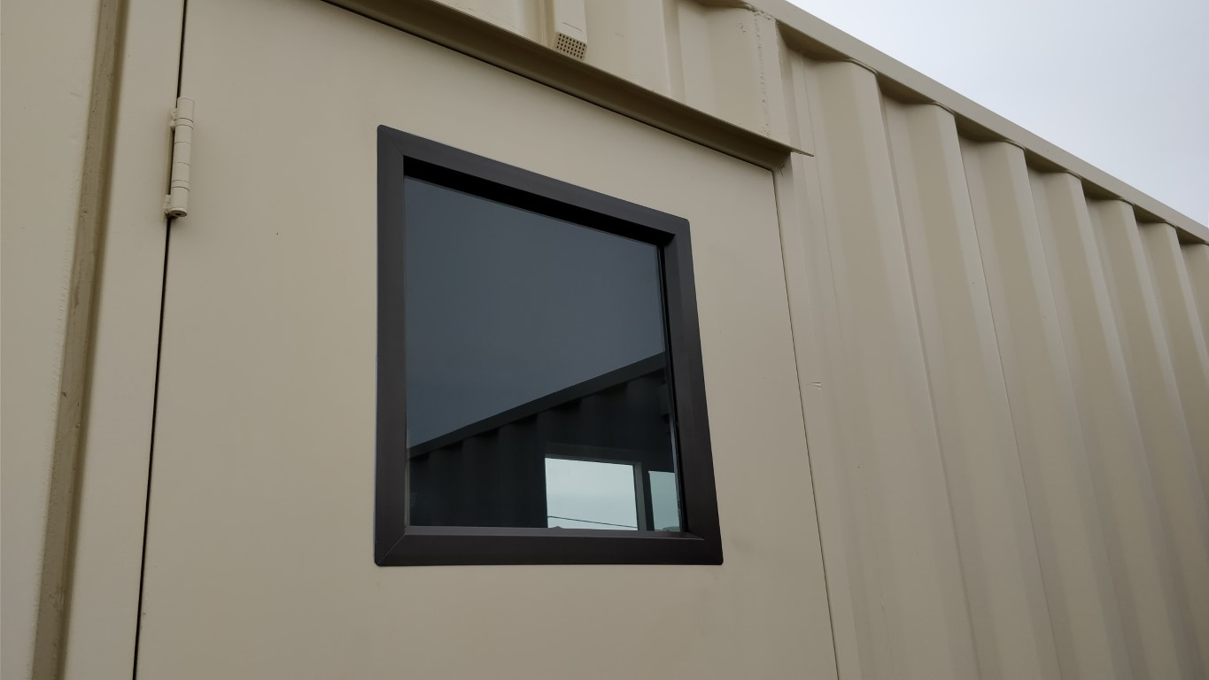 Personnel man door window for shipping container for sale inside