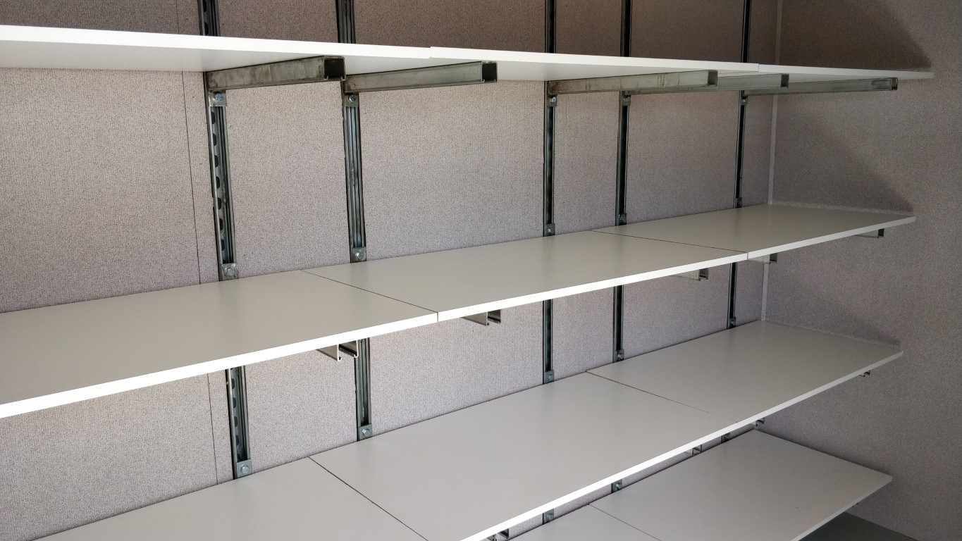 Unistrut adjustable shelving
