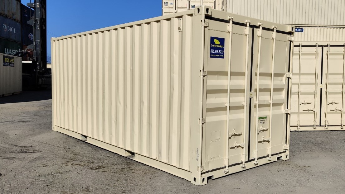Beige exterior paint for shipping containers for sale