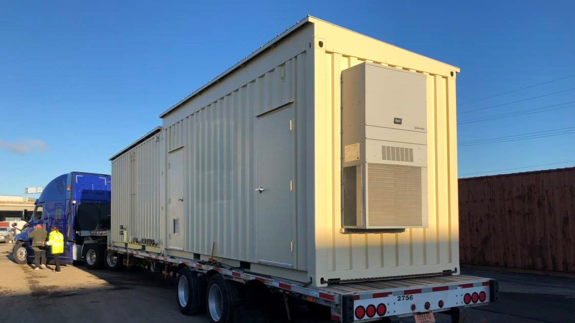 shipping container machinery enclosures
