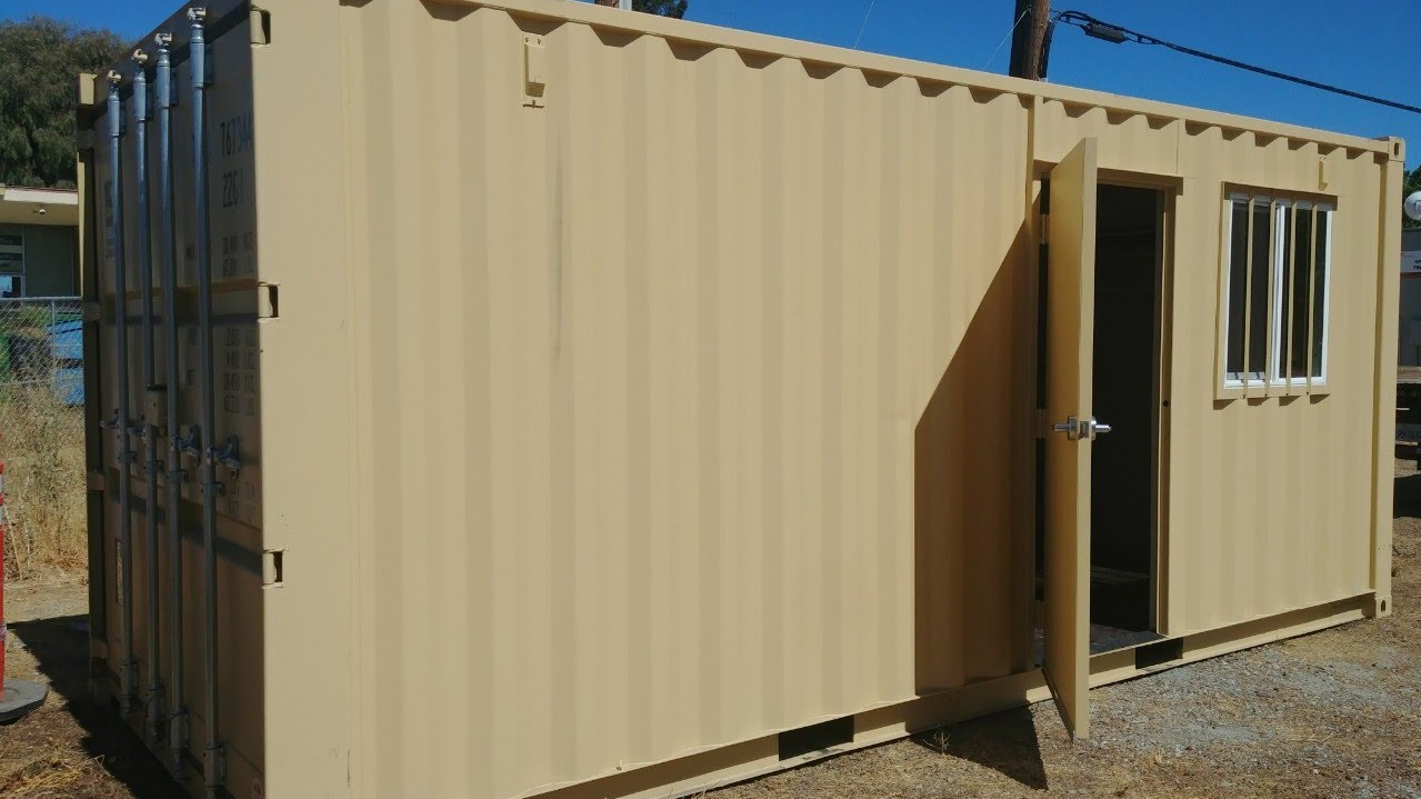 20ft combo office and storage container