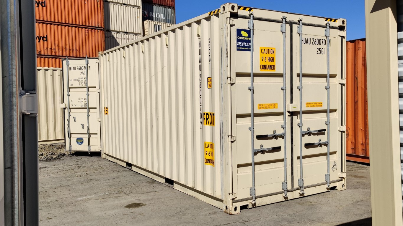 New 20ft high cube shipping container with doors on both ends of sale