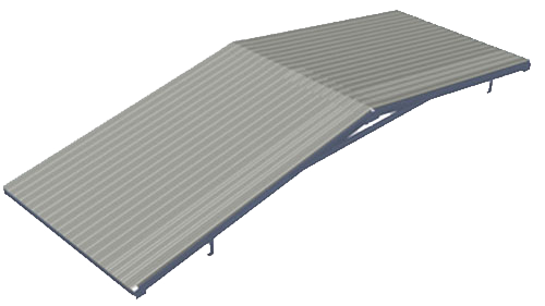 Gable style container roof kit