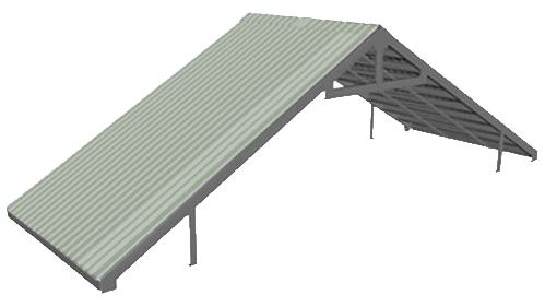 High pitched style container roof kit