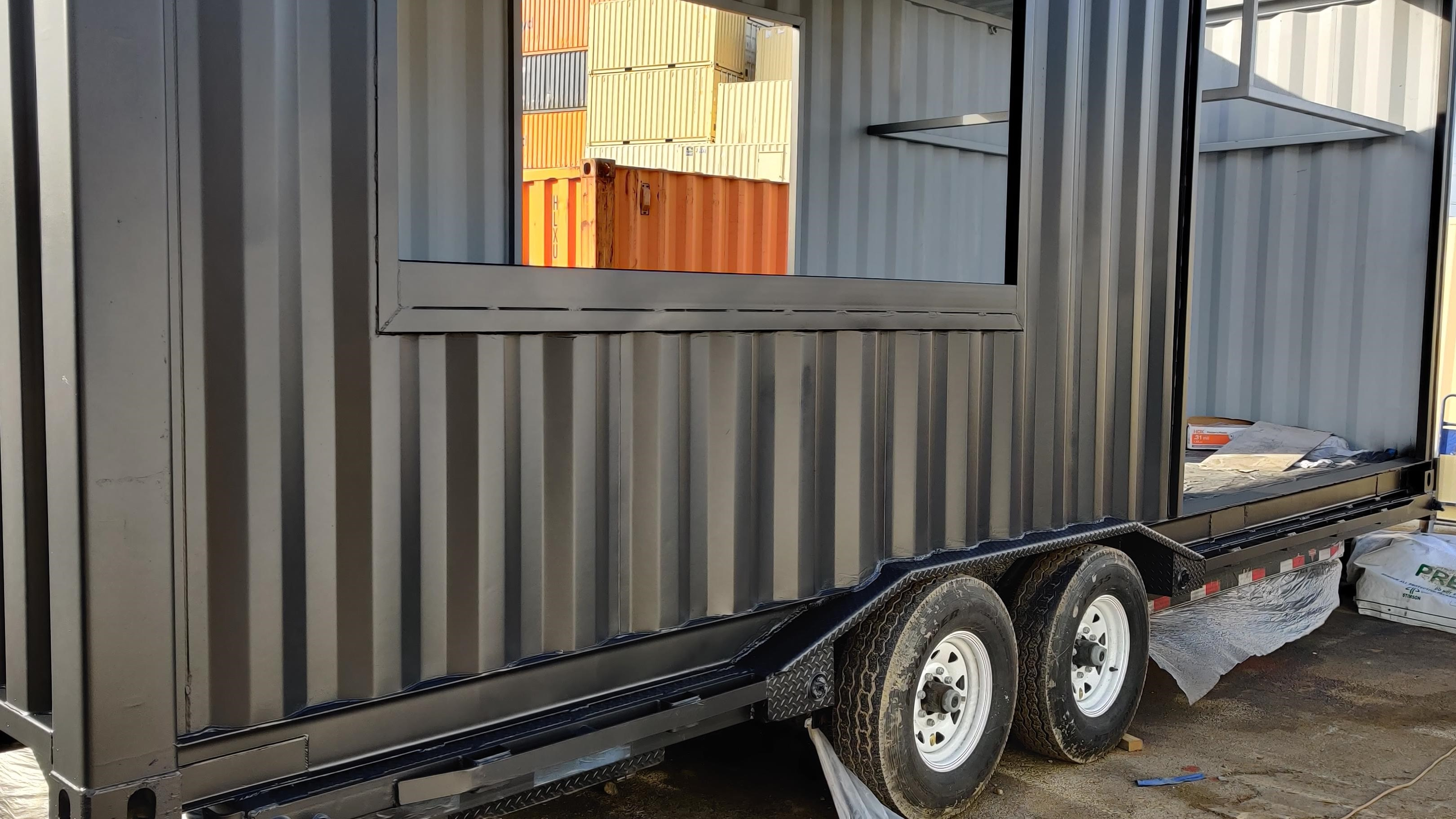 Tiny home from shipping container