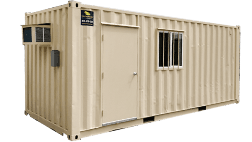20ft combo office plus storage container for sale