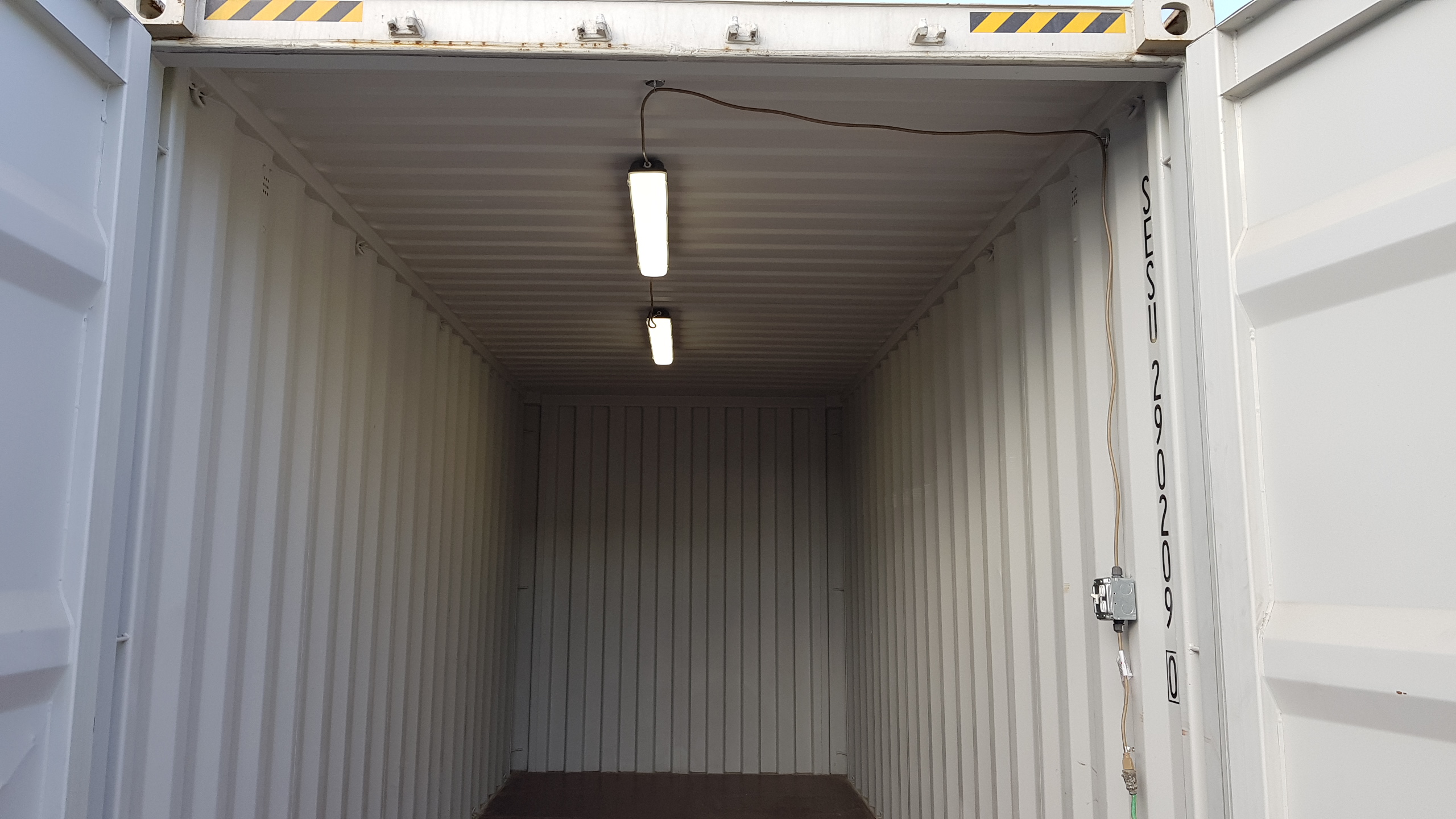 Light kit for shipping containers for rent