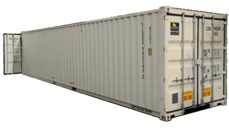 40ft shipping container with doors on both ends for sale
