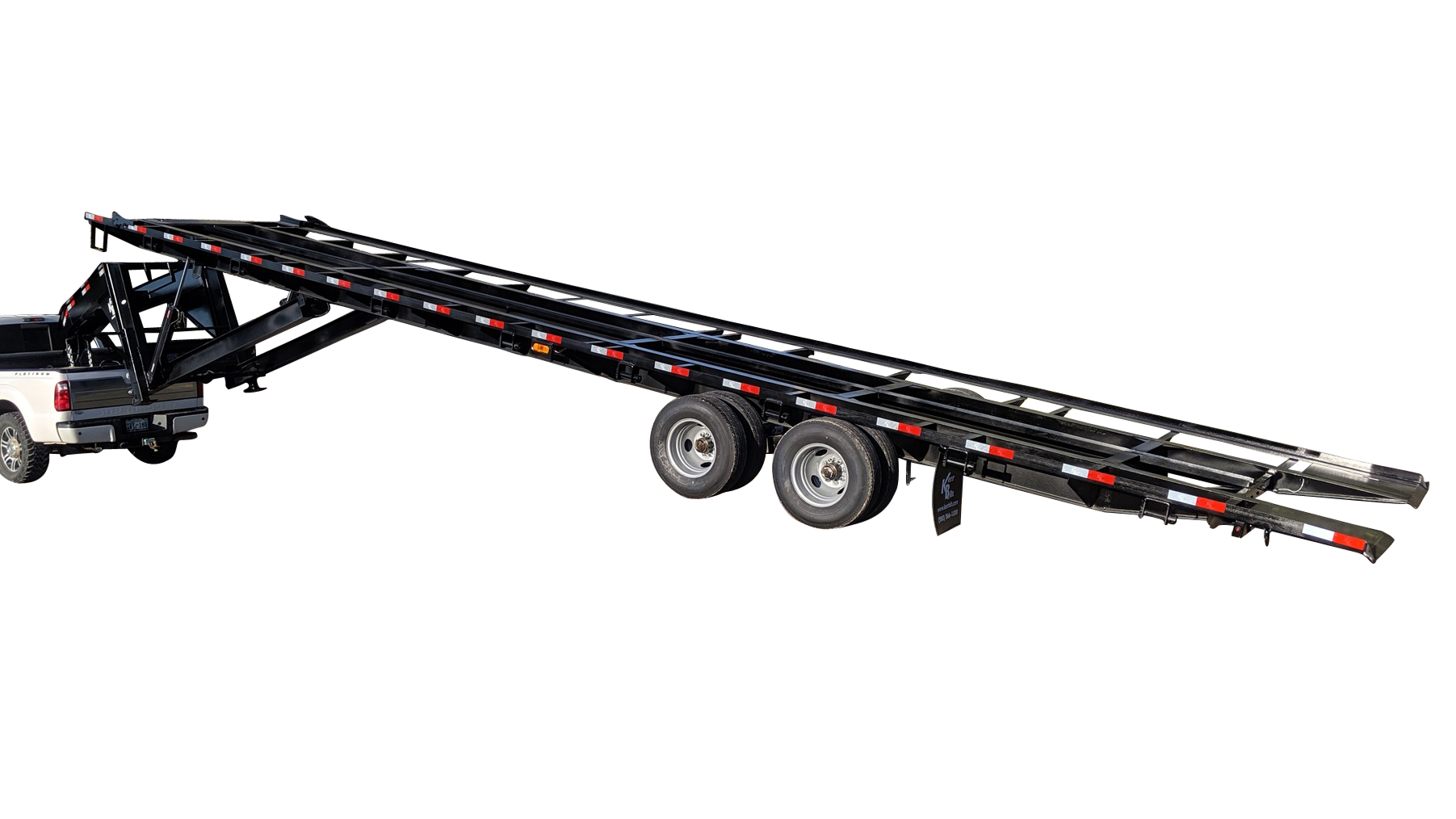 40ft tilt bed gooseneck trailer