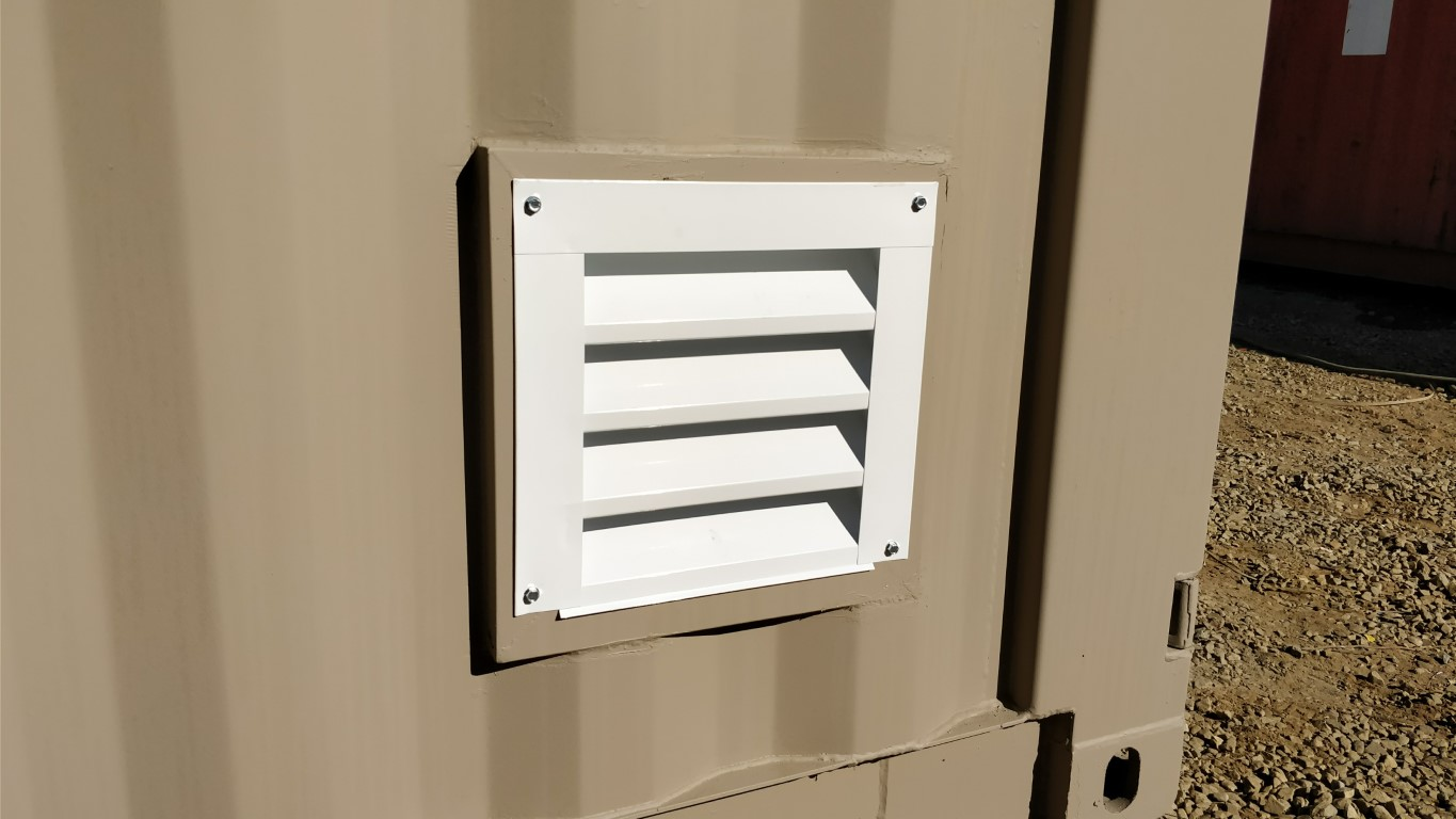 Louvered vent for shipping containers for sale