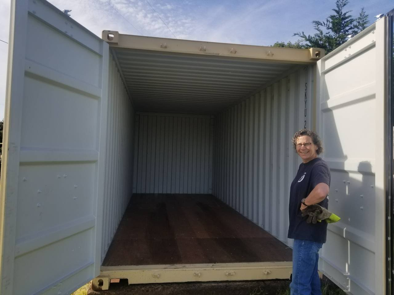 ground delivery for shipping and storage container